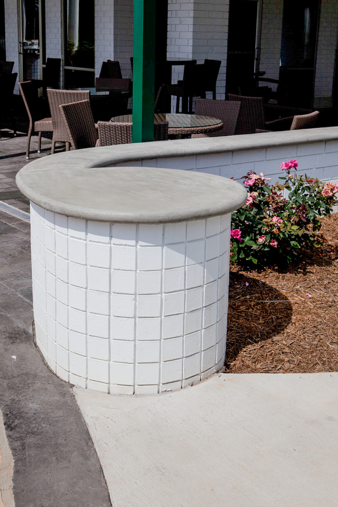 Cement Wall Caps : Artisan concrete solutions wall caps