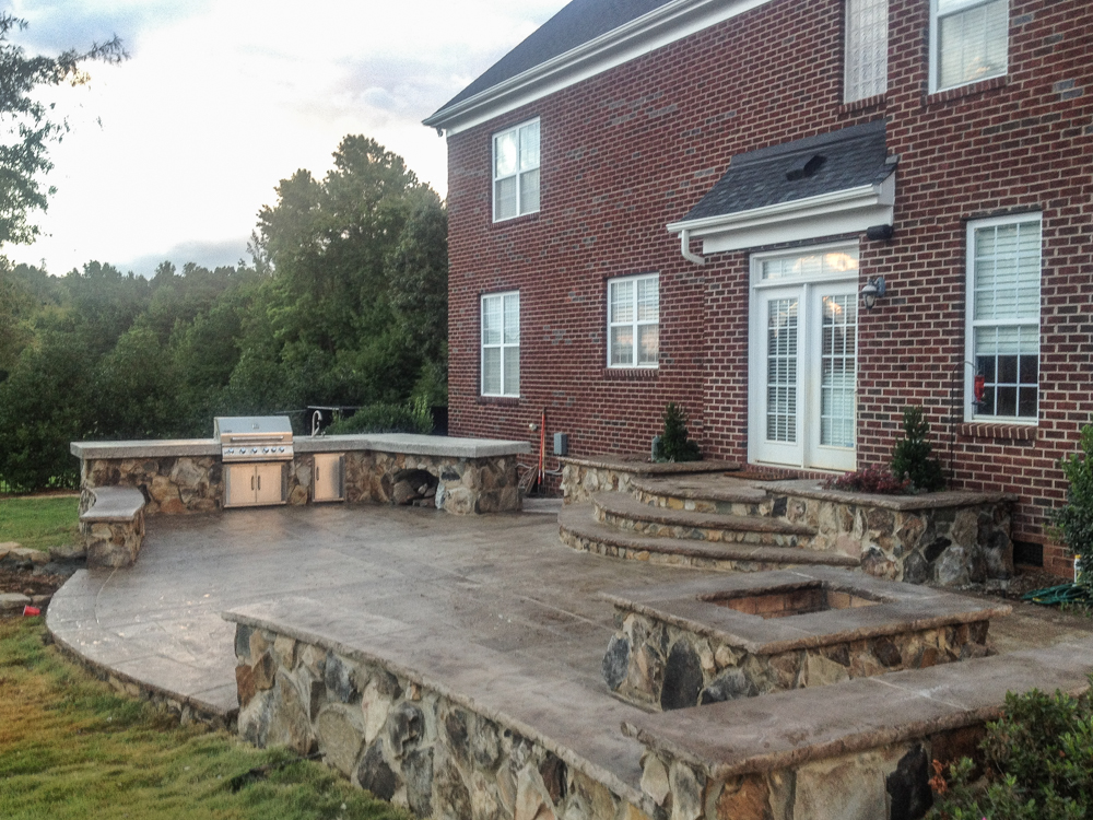 Artisan concrete solutions outdoor living areas Outdoor living areas images